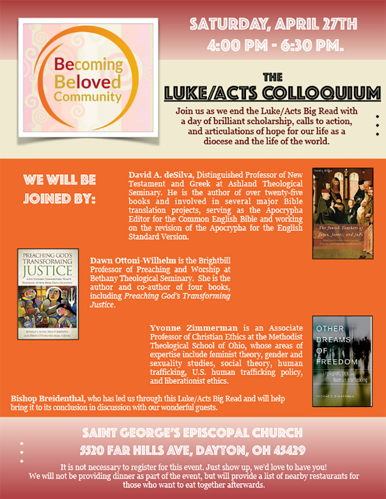 flyer for LukeActs Colloquium